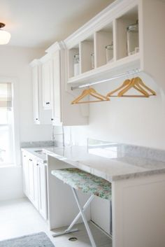 Best 20 Laundry Room Makeovers - Organization and Home Decor Laundry room organization Laundry room decor Small laundry room ideas Farmhouse laundry room Laundry room shelves Laundry closet Kitchen Short People Freezer Shiplap Mudroom Laundry Room, Laundry Room Remodel, Laundry Storage, Laundry Room Folding Table, Laundry Folding Station, Laundry Room Shelving, Laundry Table, Utility Room Storage, Laundry Cart