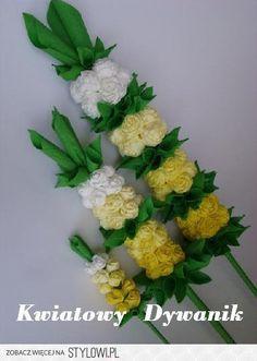 Kwiatowy dywanik: Słoneczne palemki;) na Stylowi.pl Polish Easter, Polish Folk Art, Palm Sunday, Quilling Designs, Paper Flowers, Decoupage, Weaving, Diy, Christmas