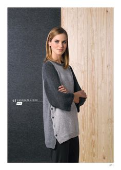 Sweater in Katia Cashmere Blend. Discover more Patterns by Katia at LoveKnitting. We stock patterns, yarn, needles and books from all of your favorite brands.