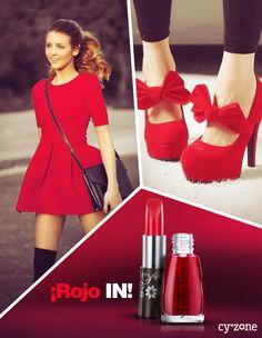 Atrévete a resaltar con el color más sexy, el rojo!! ;)