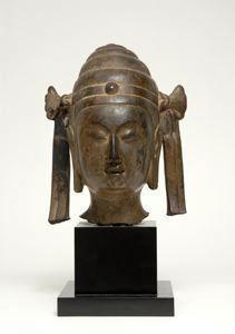 Head of Pratyeka Buddha. China. Sui dynasty 6th-7th century.