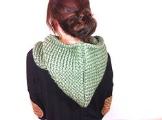 Loom Knit Hooded Cowl