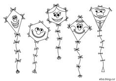 Papírový drak | Materiály do mateřské školy Art For Kids, Crafts For Kids, Board Decoration, Autumn Activities For Kids, Draco, Kite, Hair Accessories, Children, Blog