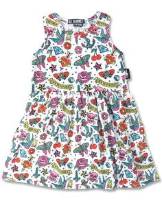 Six Bunnies Kinder CUTE FLASH Kleid.Tattoo,Oldschool,Biker,Pin Up,Custom Style