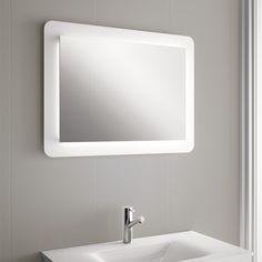 espejo de pared con luna cristal pulido de mm con iluminacin led de w