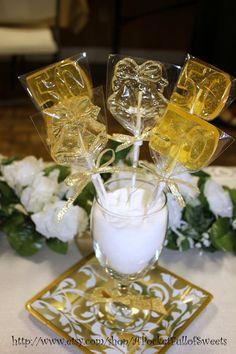 50th WEDDING ANNIVERSARY Barley Sugar Hard by APocketFullofSweets, $17.99
