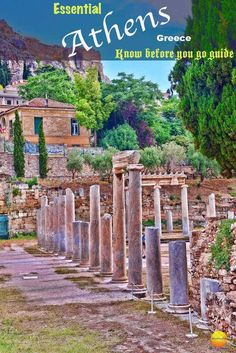 Good, Bad And Ugly Sides of Athens Greece Guide - Nextbiteoflife Athens guide - Roman Agora columns Places In Europe, Places To Visit, Athens Guide, Travel Around The World, Around The Worlds, Go Guide, Cruise Travel, Athens Greece, Travel Couple