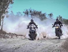 Sharing the lead is a whole lot nicer than being in dusty second. Gs 1200 Adventure, Adventure Tours, Off Road Bikes, Car Illustration, Illustrations, Bike Photo, Dual Sport, Cool Bikes, Motor Car