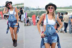 Ellen Jabour no Lollapalooza 2016: look inspiração de como usar o macacão com muito estilo