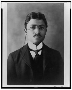[African American man, head-and-shoulders portrait, facing front] Victorian Life, Head & Shoulders, African American Men, Black History, Portrait, Face, People, Mixed Race, Color