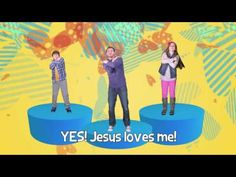 Remember and celebrate that Jesus loves me, because the Bible tells me so! By KidSpring Worship. This video is part of our FREE children's ministry curriculu. Childrens Bible Songs, Bible Songs For Kids, Kids Songs With Actions, Music For Kids, Sunday School Songs, Sunday School Activities, Preschool Bible, Preschool Music, Kids Worship Songs