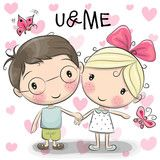 Discover thousands of images about Cute Cartoon Boy And Girl Are Holding Hands On A Heart Background Banco de ilustração vetorial 440404327 : Shutterstock Cute Cartoon Boy, Boy And Girl Cartoon, Couple Cartoon, Boy Or Girl, Cartoon Cartoon, Holding Hands Drawing, Girls Holding Hands, Cute Images, Cute Pictures