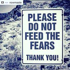 Por favor, não alimente os medos.  Obrigado! #Repost @nowmaste