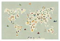 World map big print di blancucha su Etsy
