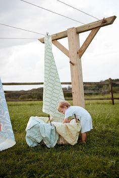 Growing up, clothes were always hung to dry! Oh, that clean fresh scent! Sure don't get that from a dryer!