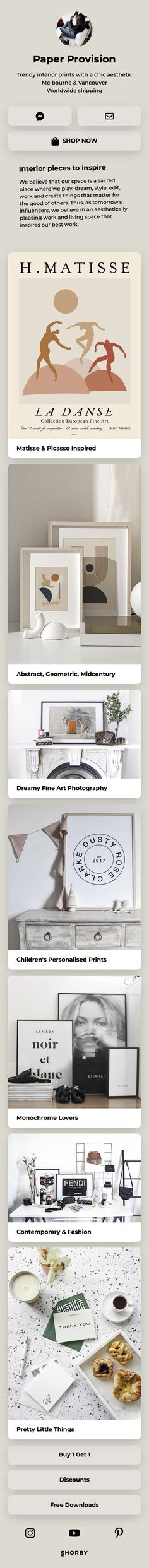 Thank you, @paperprovision, for creating this amazing Shorby page! Trendy interior #prints with a chic #aesthetic #pinterestinspired Chic, Amazing, Interior, Prints, Inspiration, Shabby Chic, Biblical Inspiration, Elegant, Indoor