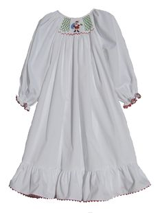 3bc07c593a Click here to purchase this Girls Hand Smocked White Holiday Christmas  Nightgown  http