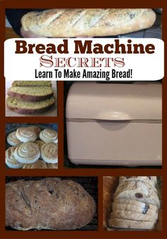 Bread Machine Secrets - Cooking and Baking - Homemade Bread Cooking Bread, Bread Baking, Cooking Recipes, Cooking Videos, Cooking Classes, Cooking Kale, Cooking Artichokes, Cooking Tips, Quick Bread