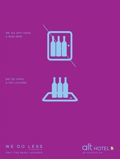 Cool ad.    Alt Hotel: Mini-bar