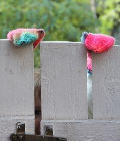 Rainbow mittens by Pipo&mitten Mittens, Planter Pots, Rainbow, Fingerless Mitts, Rain Bow, Rainbows, Fingerless Mittens, Gloves