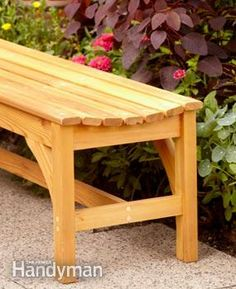 DIY:  How to Build a Garden Bench