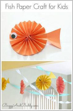 Fish Paper Craft for Kids (Perfect for an ocean unit or birthday party!)  Buggy and Buddy