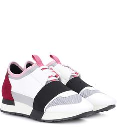 Balenciaga s Race Runner sneaker is a sports-luxe style with a new-season  update in hues of pink blocked with greyscale shades. This tactile pair is  crafted ... 4b35a5a50f0
