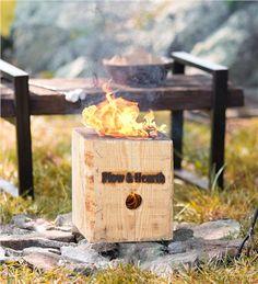 A gift for him, husband, boyfriend, men, or dad. BlazingBlock Portable Outdoor Wood Bonfire | Fire Starters & Fatwood