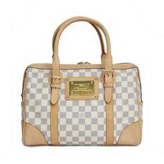 Louis Vuitton Berkeley Damier Azur Shoulder bags White Canvas N52001
