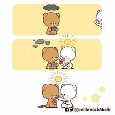 Cute Love Gif, Cute Love Quotes, Cute Couple Cartoon, Cute Cartoon, Cartoon Art, Relationship Comics, Relationship Drawings, Cute Bear Drawings, Chibi Cat