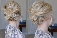 Le chignon bouclé flou, faussement négligé, est un incontournable des chevelures bouclées que les cheveux lisses nous envient ! Il est très facile de créer