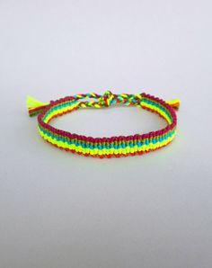 Colorful bracelet Friendship bracelet Vertical stripes