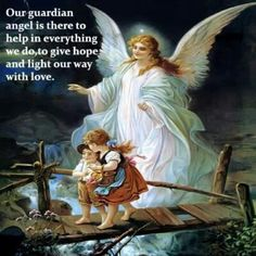 I have this printed blanket, only without the wording on it! I've always known I have a Guardian Angel!