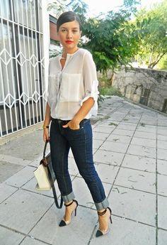 Blue jeans  , www.oasap.com en Camisas / Blusas, www.jessicabuurman.com en Tacones / Plataformas, www.vj-style.com en Bolsos, Mango en Jeans