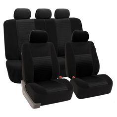 FH Group 'Trendy Elegance' Black Airbag-safe Car Seat Covers (Full Set) (Black)