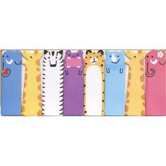 cute zoo animals bookmark stickers Post-it £4.50 +2.50 postage uk