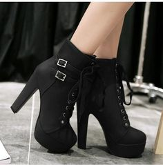 Department Name: AdultItem Type: BootsPattern Type: SolidBoot Height: AnkleBoot Type: Motorcycle bootsFashion Element: Platformis_handmade: YesBrand Name: MCCKLEToe Shape: Round ToeHeel Type: Thin HeelsPlatform Height: 0-3cmUpper Material: PUInsole Material: EVAClosure Type: Lace-UpShaft Material: PUHeel Height: Supe