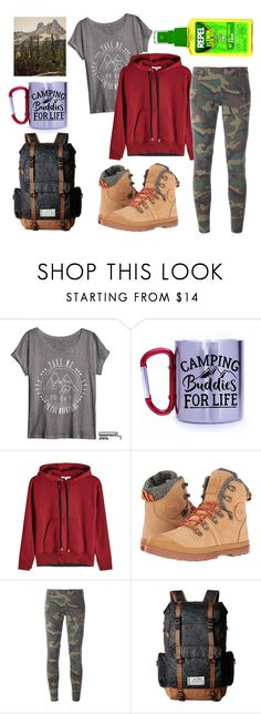 """Take me camping"" by leucanthemum ❤ liked on Polyvore featuring Helmut Lang, Palladium, Faith Connexion and Kavu"
