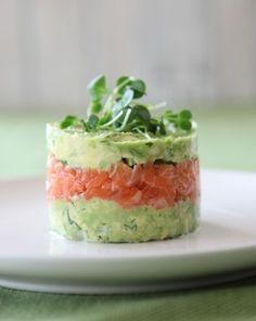 Hapjes#blog#. Zalmtartaar met avocado