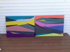 Superficial (right), 2013 & Bitch (left), 2013. Both are acrylic on canvas, Lindsey Walczyk.