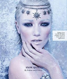 Snow inspired make up. Love the styling. Would work well for a wintery themed fashion shoot