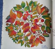 Finally finished :) @johannabasford  #johannabasford #secretgarden #leaves #autumn