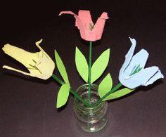 Eierkartonblumen Blumen Basteln mit Eierkartons