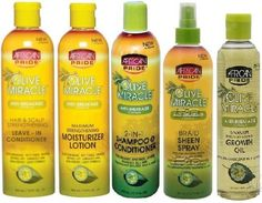 African Pride Olive Miracle Jumbo SET (Shampoo/Conditioner, Moisturizer lotion, Leave In Conditioner, Braid Sheen, Growth Oil) Plus 1 Free of Apple EYE Pencil Color: Grey ** Want to know more, click on the image.