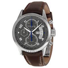 Raymond Weil Freelancer Grey Dial Brown Leather Chronograph Mens Watch 7730-STC-05600  $1,750