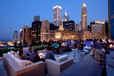 Located in River North, Trump International Hotel Rooftop Chicago, Chicago Bars, Chicago River, Chicago Restaurants, Dormer House, Chicago Location, Trump International Hotel, Game Development Company, Best Rooftop Bars