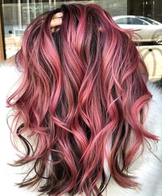 Amzing Hair Colors & Ideas for Women 2019 Amzing Haarfarben & Ideen für Frauen 2019 Hair Color For Women, Red Hair Color, Hair Color Balayage, Ombre Hair, Red Ombre, Color Red, Pink Hair Highlights, Teal Hair, Pelo Color Morado
