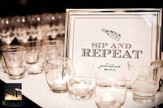 Sip and Repeat and Bar and Cake table Printable Wedding Poster Bar by FlairDesigneryLLC, $7.00
