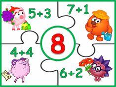 Preschool Art Activities, Kindergarten Math Worksheets, Preschool Classroom, Teaching Math, Math Numbers, Letters And Numbers, Math Sheets, Math Journals, First Grade Math