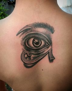 Egyptian eye tattoo eyebrow